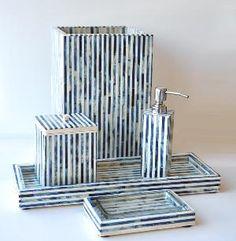 Marine Stripe Vanity Set