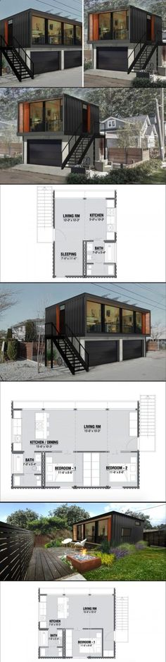 Shipping Container Garage Door industrial-garage Container homes
