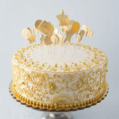 Golden Birthday celebration cake                              …