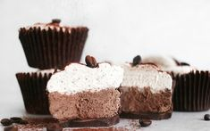 Coffee and chocolate is a dream pair, and these mocha desserts are proof of their undeniable flavor chemistry. Chocolate Hazelnut Cake, Chocolate Cake With Coffee, Vegan Dark Chocolate, Chocolate Treats, Healthy Chocolate, Coffee Cake, Tea Recipes, Coffee Recipes, Whole Food Recipes