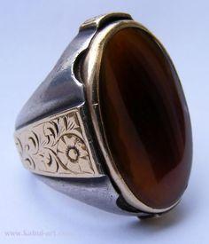 antike orient massiv silber Karneol Ring Persian antique carnelian ring Iran