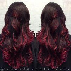 Cherry Bomb Ombre Hair Color For Brunettes Hair Ideas Pinterest