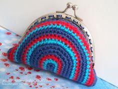 Vintage Purses stripes (blue / red)
