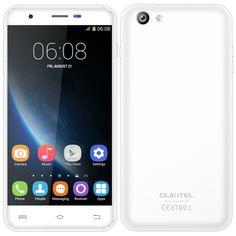 OUKITEL U7 Pro Mobile Phone 5.5'' MTK6580 Quad Core 1.3GHz 1280 * 720 HD  Android 5.1 1GB RAM 8GB ROM 13.0MP Dual SIM WCDMA 2500mAh Battery Smart Phone