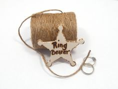 Rustic Wedding RING BEARER badge Lapel pin by KnottyNotions, $12.00
