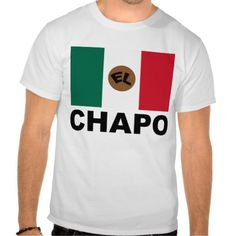 """El Chapo Mexican flag  cap shirt  Mexican drug lord Joaquin """"Shorty"""" Guzman, """"El Chapo,"""" has been captured, he was Mexico's most wanted man. People are filling the streets calling for is freedom. This design features a stylized flag of Mexico (green, white and red) bearing the name """"EL CHAPO"""".    Created By Pollylitical"""