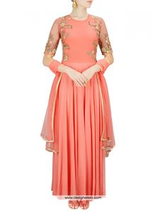 de-charming-peach-colored-designer-salwar-kameez-on-georgette-metal-embellishments