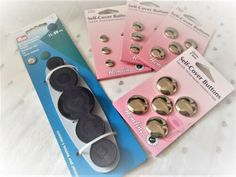 HEMLINE Metal Self-Cover Buttons OR Button Maker Tool- size 11 15 19 22 29 38mm   eBay Fabric Covered Button, Covered Buttons, Button Maker, Hemline, Conditioner, How To Apply, Tools, Metal, Beauty