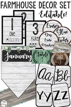 Farmhouse Classroom Decor Bundle This rustic, shabby chic, farmhouse decor set would look amazing in any elementary or secondary classroom! Classroom Board, Classroom Setup, Classroom Design, Kindergarten Classroom, Future Classroom, Classroom Organization, Classroom Management, Bulletin Boards, Classroom Labels