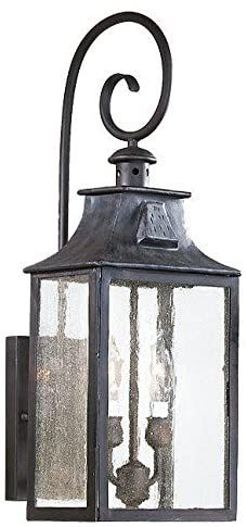 LED Cylinder with Flat Rim Artisan Glass Shade in Weave Atlantic Large Outdoor Wall Sconce Brushed Nickel Finish Fusion