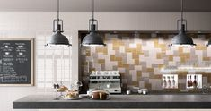 """Imola Ceramica's """"Cento per Cento"""" is retro-modern with 11 attractive colors and a range of tactile, surface patterns that can be mixed & matched to your heart's desire. Kitchen Tops, Kitchen And Bath, Versace Tiles, Mustard Walls, Kitchen Showroom, Tile Stores, Ceramic Wall Tiles, Cuisines Design, Küchen Design"""
