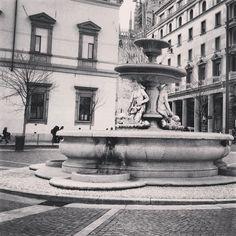 Piazza Fontana  #milano #milan #italy #square #fountain #piazzafontana #italia
