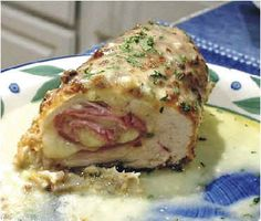 Slow Cooker Chicken Cordon Bleu