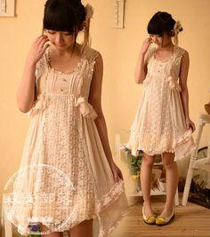 mori style lace dress