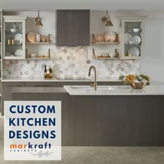Located in Wilmington NC and Nashville TN, MarKraft design centers showcase the very latest selection in quality cabinets and countertops. Custom Kitchens, Grey Kitchens, Cabinets And Countertops, Kitchen Cabinets, Quality Cabinets, Custom Cabinets, Cabinet Design, Custom Wood, Kitchen And Bath