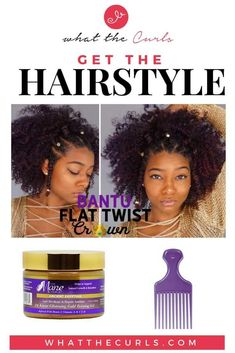 Flat Twist Bantu Knot Crown Hair - What The Curls - Flat Twist Bantu Knot Crown Hair – What The Curls The Effective Pictures We Offer You About caram - Natural Hair Twist Out, Long Natural Hair, Natural Hair Styles, Natural Curls, Crown Hairstyles, African Hairstyles, Female Hairstyles, Celebrity Hairstyles, Goth Hairstyles