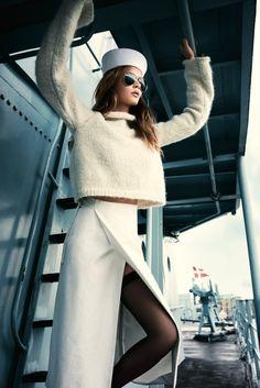Josephine Skriver gets nautical for Elle Denmark October 2015 by Henrik Bulow [editorial]