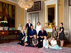 The King and Queen surrounded by their children and grand children. These photographs were taken on the occasion of their 80th anniversary. Photo: Lise Åserud, NTB scanpix Photo album with pictures of the Royal Family of Norway through the year 2017.