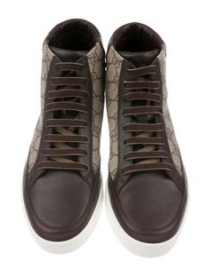 Gucci GG Supreme Coated Canvas Sneakers - Shoes - GUC660564 | The RealReal Canvas Sneakers, Shoes Sneakers, Gucci Coat, Real Style, Heritage Brands, Shoe Closet, Luxury Consignment, Supreme, Loafers & Slip Ons