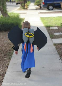 Batman Costume with a DIY Bat Wing Jet Pack
