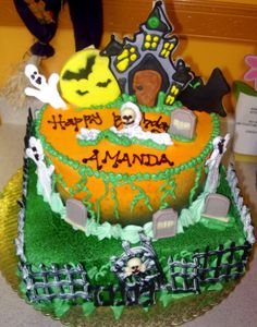 halloween birthday cakes | happy birthday art theater motorcycle birthday happy halloween happy ...