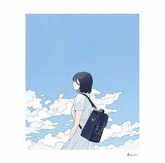 Anime Scenery Wallpaper, Cute Wallpaper Backgrounds, Anime Artwork, Cute Wallpapers, Fantasy Drawings, Cool Drawings, Cartoon Art, Girl Cartoon, Posca Art