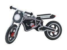 Questa moto farà breccia nel cuore del tuo bambino, che si divertirà affinando abilmente l'equilibrio e la coordinazione sulle due ruote.