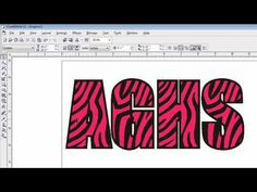 Creating Animal Print Patterns Using CorelDRAW for use with heat transfer materials. http://www.stahls.com/heat-transfer-material