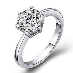 Swarovski Crystal Solitaire Ring.