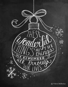 Christmas Ornament Illustration - 8 x 10 Print - Sleigh Ride Lyric - Chalkboard Decor - Christmas Art - Black and White Christmas