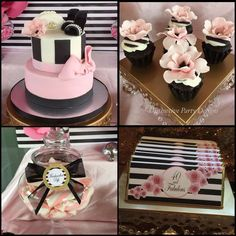Distinctive Party Designs 's Birthday / Fashion - Photo Gallery at Catch My Party Chanel Birthday Party, Chanel Party, Birthday Fashion, 40th Birthday Cakes, Adult Birthday Party, 30th Birthday Parties, Birthday Ideas, 40 Birthday, Birthday Recipes