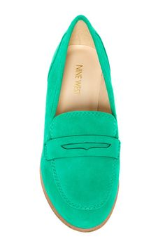 green loafers