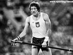 "Poland's Władysław Kozakiewicz won the pole vault with a world record jump of 5.78m (18'11.5"") at the 1980 Moscow Olympics"