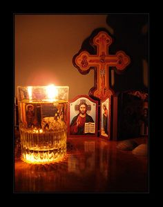 Prayer Corner, Facebook Cover Images, Home Altar, Byzantine Icons, Orthodox Christianity, Faith Hope Love, Orthodox Icons, Jesus Christ, Positive Quotes