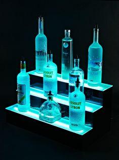 Diy Home Bar, Diy Bar, Bars For Home, Bar Shelves, Display Shelves, Liquor Shelves, Shelving Ideas, Tapas Bar, Liquor Bottles