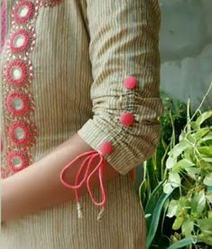 Looking for latest sleeve designs to try with your kurtis and kurthas? Here are 15 chic designs that will look totally chic on your dress.How to Make Beautiful Sleeves Designs - Tutorial - ArtsyCraftsyDadSheer full length gives a special look Chudidhar Neck Designs, Salwar Neck Designs, Churidar Designs, Neck Designs For Suits, Kurta Neck Design, Sleeves Designs For Dresses, Kurta Designs Women, Blouse Neck Designs, Sleeve Designs For Kurtis