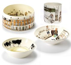 Illustrated ceramics