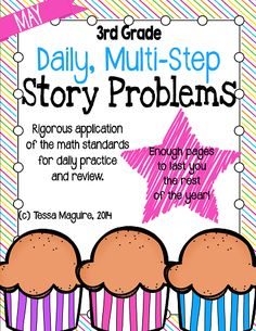 Daily problem solving practice for third grade