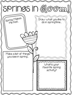 Springs in Bloom Writing Activity
