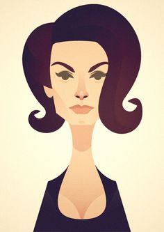 Sofia Loren | Stanley Chow Illustration of Manchester England,