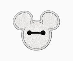 "This purchase is a digital INSTANT DOWNLOAD for a machine embroidery design. It is a computer zip file intended for embroidery machines and will be downloaded once payment is cleared.  BAYMAX Machine Embroidery Applique Designs ""Mickey Ears"" fo..."