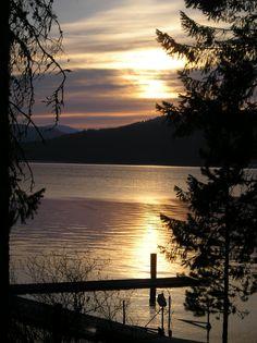 Sunset at Priest Lake