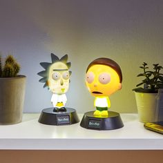 Turn those main lights off, turn these bad boys on, and get schwifty in here. Maybe dont shit on the floor though. Or the rest. These Rick And Morty Icon Lights Rick And Morty Merch, Mister Meeseeks, Ricky And Morty, Mushroom Lights, Get Schwifty, Harry Potter Gifts, The Bell Jar, Jar Lights, Secret Santa Gifts