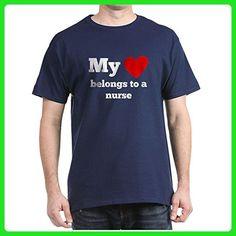 CafePress - My Heart Belongs To A Nurse T-Shirt - 100% Cotton T-Shirt - Careers professions shirts (*Amazon Partner-Link)