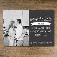 Printable Save the Date - Vintage. via Etsy.
