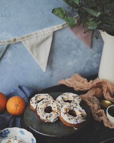 currently road tripping with my boy en route to meet his newest baby cousin and visit family in Maine  wish we packed some of these grapefruit sesame cardamom donuts for road snacks  recipe coming soon to the blog  #fareisle #vegan #plantbased #feedfeed @thefeedfeed #f52grams #beautifulcuisines #hautecuisines #eattheworld #fxw #foodandwine #bareaders #thekitchn #marthafood #bestofvegan #veganfoodshare #feedfeedvegan #feedfeedglutenfree #huffposttaste #buzzfeast #letscookvegan