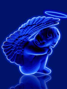 You are my Angel in Heaven Animiertes Gif, I Believe In Angels, Angels Among Us, Angels In Heaven, Gif Pictures, Guardian Angels, Angel Art, My Favorite Color, Shades Of Blue