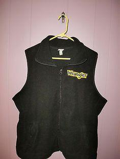 Merona Black Fleece Wrangler Rodeo Cowgirl Western Women's Vest Plus Size 20 22   eBay