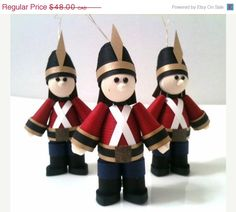 Ornament Sets On Sale Toy Soldier Ornament by WintergreenDesign, $43.20