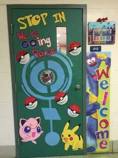 Back to school pokemon go door decor